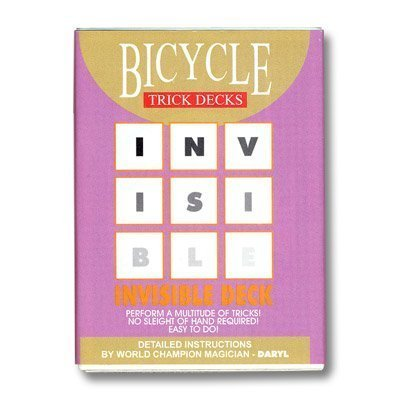 Invisible Deck Bicycle - red - 1