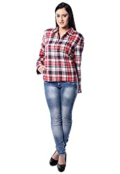 iamme Red Check jacket with front zip & pocket.