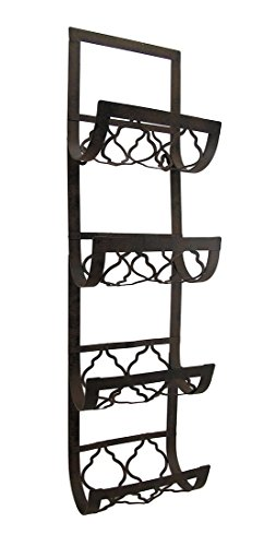 Deco 79 Metal Wall Wine Rack, 28 by 8-Inch (Wall Decor Wine Rack compare prices)