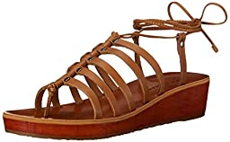 Lucky Women\'s Hulumi Flat Sandal, Brown Sugar, 7.5 M US