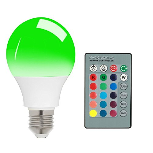 E27 15W RGB LED Light Bulb 16 Colors Changing Dimmable Multi Color LED Light with IR Remote Control 360° Beam Angle LED Lamp 85-265V for Home Decoration/Bar/Party/KTV Mood Lighting (Color Led Light Blubs compare prices)