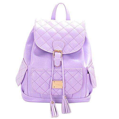 Vonfon Bag Womens Spiraea New Winter Fashion Backpack Purple
