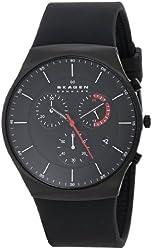 Skagen Men's SKW6075 Balder Titanium Watch with Black Silicone Band