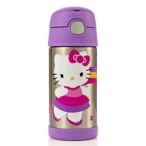 Thermos Funtainer 12 Ounce Bottle, Hello Kitty Purple (Thermos Soup Container With Spoon compare prices)