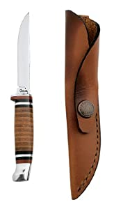Case Cutlery 379 Case M3FINN Leather Hunter with Stainless Steel Fixed Blade Leather by Case
