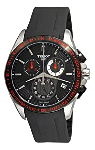 Tissot Men's T0244172705100 Veloci-T Chronograph Black Dial Watch