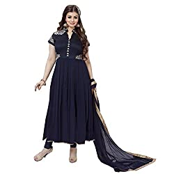 Siddh Creation Straight Gown Black Embroidered suit
