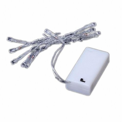 10-Led Power Battery String Fairy Light White Party Festival Decoration Free Shipping+ With Lucky Bracelet Package