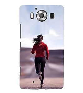 99Sublimation Girl Jogging 3D Hard Polycarbonate Back Case Cover for Microsoft Lumia 950, Nokia Lumia 950