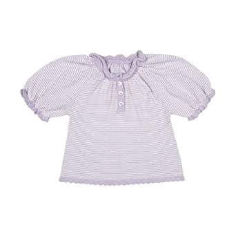 Toffee Moon Baby Girls Lavender/Silver Stripe True Knit Top - Purple - 12-18 Months
