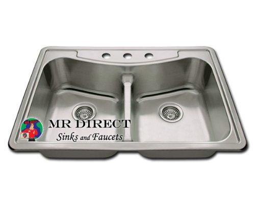 Topmount Low Divide Kitchen Sink
