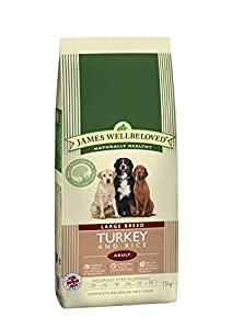 James Wellbeloved Complete Dry Dog Food Adult Large Breed Turkey and Rice 15 Kg