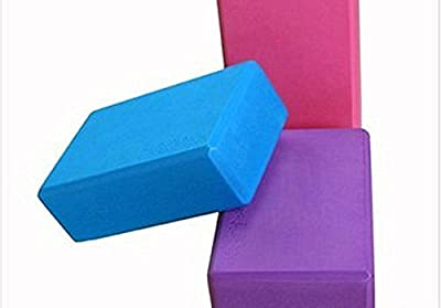 EQLEF® 1 Stück von EVA YOGA Non-Slip Premium Quality High-Density Foam Yoga-Block (lila)