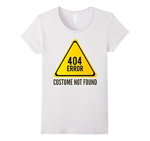 [Women's Halloween Shirt Costume Not Found Error 404 Medium White] (Costume Not Found 404)