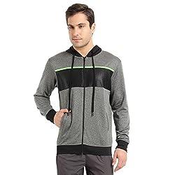 Proline Active Men's Cotton Sweatshirt (8907007332146_63001527009_X-Large_Charcoal Marl)