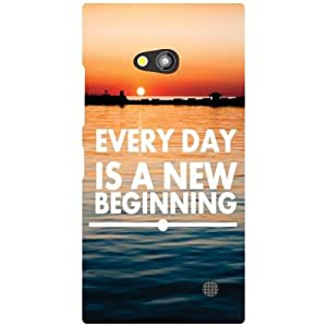 Nokia Lumia 730 Everyday Is A New Beginning Matte Finish Phone Cover
