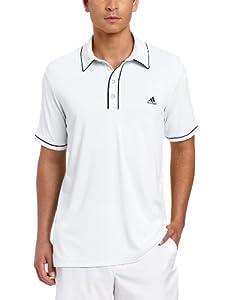 adidas Golf Men's Fashion Performance Solid Polo Shirt, White/Black, XX-Large