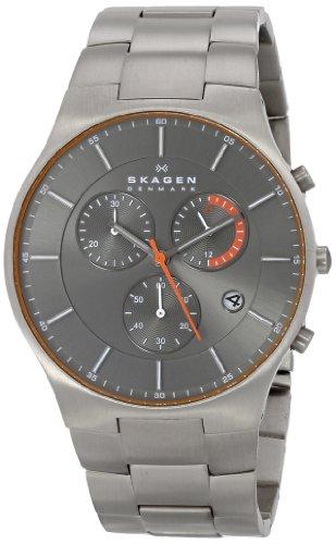 Skagen Men's SKW6076 Balder Quartz/Chronograph Titanium Gray Watch