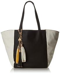 BIG BUDDHA Jgrnwich Shoulder Bag,Black/White,One Size