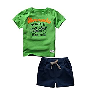 Amazon.com: IDGIRL Baby Boys 2-Piece Short T-Shirt Set For Summer ...