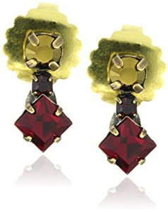"Sorrelli ""Maple Syrup"" Delicate Crystal Goldtone Earrings"