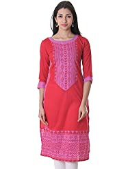 Lollipop Colour Cotton Printed Kurta From ESTYLe