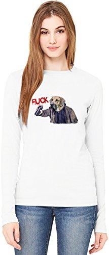 Fuck System T-Shirt da Donna a Maniche Lunghe Long-Sleeve T-shirt For Women| 100% Premium Cotton| DTG Printing| Medium