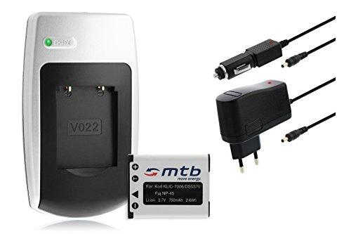 Batteria + Caricabatteria Klic-7006 per Kodak EasyShare M23, M125, M215, M522, M530, M531