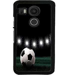 ColourCraft Football Design Back Case Cover for LG GOOGLE NEXUS 5X
