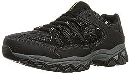 Skechers Sport Men\'s Afterburn Memory Foam Lace-Up Sneaker,Black,11 4E US