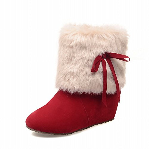 Carolbar-Womens-Chic-Bows-Faux-Fur-Sweet-Cute-Warm-Christmas-Gift-Hidden-Wedge-Heel-Snow-Boots