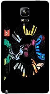 Timpax protective Armor Hard Bumper Back Case Cover. Multicolor printed on 3 Dimensional case with latest & finest graphic design art. Compatible with Samsung Galaxy Note 4 Design No : TDZ-27528