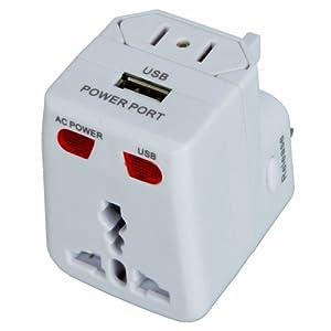 Universal World Wide Multi Use Three-Pin Power Plug Travel Charger ...