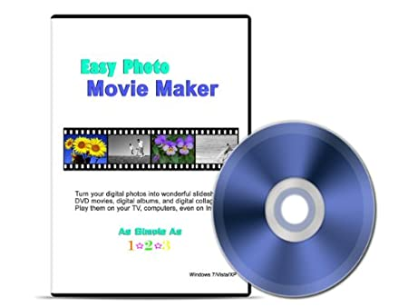 Easy Photo Movie Maker: Digital Scrapbooking Software. Converts your digital photos into movies; photo slideshows; and albums with special motion effects, music, and captions. Shares them on TV, DVD, PC and Internet. It is as easy as 1-2-3! Works with Windows XP/Vista and Windows 7.