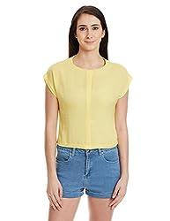 Madame Women's Body Blouse Shirt (M1518573_Yellow_Small)