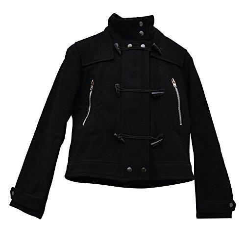 Zoelibat 21007942.008M  Damen Jacke Kurzjacke Dufflecoat Stil mit großer Kapuze, 2 teilig, Groß M, schwarz