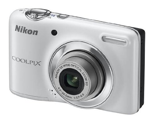 Nikon COOLPIX L25 Compact Digital Camera - White 