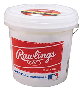 Click here to buy Rawlings Bucket with 2 Dozen ROLB3 Baseballs by Rawlings.