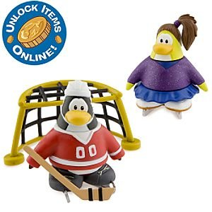 Buy Low Price Jakks Pacific Disney Club Penguin Series 6 Mix 'N Match Mini Figure Pack Skater & Hockey Player Includes Coin with Code! (B0034B69M0)