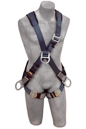 DBI/Sala 1108701 ExoFit Cross-Over Style Full Body Harness, Blue/Gray, Medium
