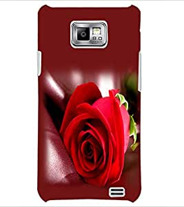 PrintDhaba Red Rose D-1143 Back Case Cover for SAMSUNG GALAXY S2 (Multi-Coloured)