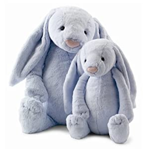 "Jellycat Large Blue Bashful Bunny Rabbit - 15"" Plush Stuffed Animals"