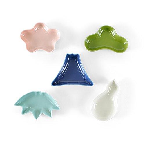 西海陶器 晴 型変り豆皿揃(カラー) 12213