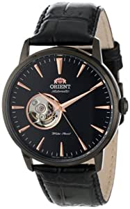 "Orient Men's FDB08002B ""Esteem"" Stainless Steel Automatic Watch with Black Leather Band"