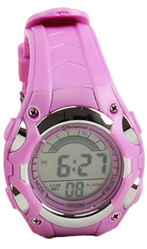 8Years- 1 Stueck Violett Kinder Digitaluhr Armbanduhr Sportuhr Stoppuhr Wasserdicht
