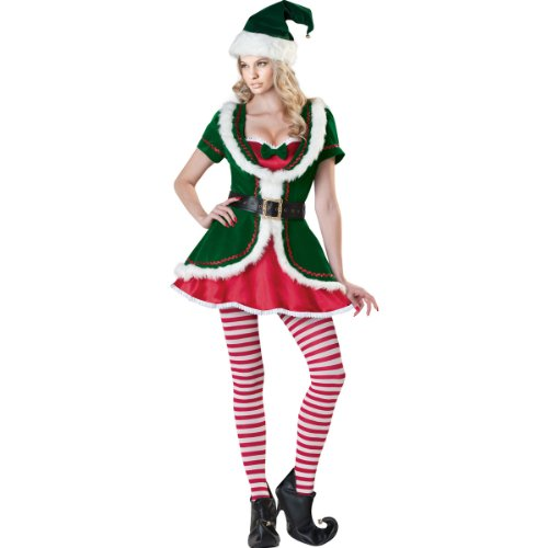 Holiday Honey Adult Womens Sexy Santa Claus' Helper Elf Christmas Costume