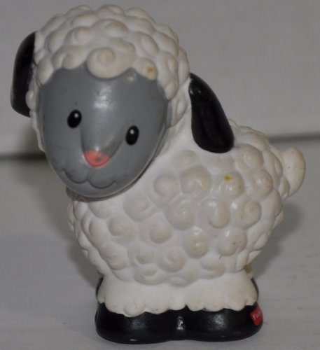 Little People Sheep (1997) - Replacement Figure Accessory - Classic Fisher Price Collectible Figures - Loose Out Of Package & Print (OOP) - Zoo Circus Ark Pet Castle - 1