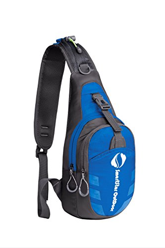 Smartstar Outdoor Sports Travel Cross Body Single Shoulder Bag Chest Pack - Blue