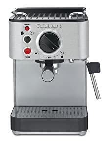 Cuisinart EM-100 1000-Watt 15-Bar Espresso Maker, Stainless Steel