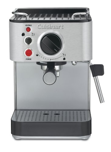 Great Features Of Cuisinart EM-100 1000-Watt 15-Bar Espresso Maker, Stainless Steel